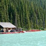 """Canoes at Lake Louise"" by C_Rivait"