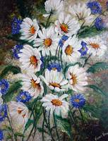 Corn flowers and Daisies
