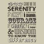 """Serenity Prayer • Neutral"" by Logophilia"