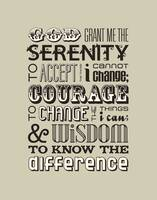 Serenity Prayer • Neutral