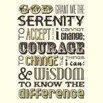 """Serenity Prayer • Multi"" by Logophilia"