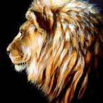 """Lion Profile-acrylic"" by berlebledsoe"
