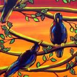 """""""Crows in Sunset"""" by reniebritenbucher"""