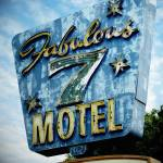 """Neon Sign Fabulous 7 Motel"" by cr8tivguy"