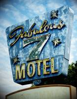 Neon Sign Fabulous 7 Motel