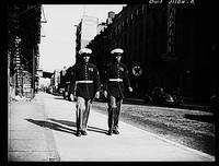 BLACK MARINES IN HARLEM NEW YORK 1943