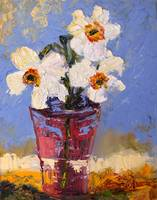 Little Daffodil Oil Painting by Ginette