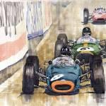 """Monaco GP 1964 BRM Brabham Ferrari"" by shevchukart"