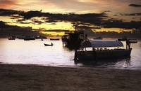 Sunset on the Indian Ocean in Stone Town Port