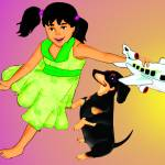"""Dog Plane and the Girl"" by night"