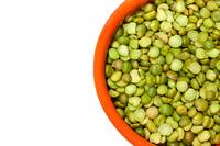 Closeup Of Dry Green Peas