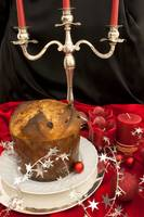 Christmas Table With Italian Panettone