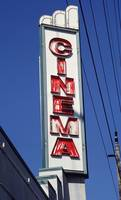 Neon Sign Cinema Theater