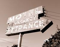 Neon Sign Motel Entrance