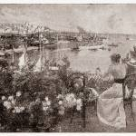 """Panorama_del_porto_di_Genova_1899"" by CBimages"