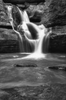 March at Cedar Falls in Black and White