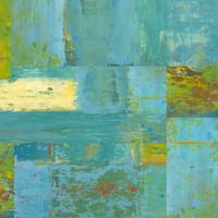 Abstract Art-Teal Squares