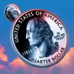 """washington obverse_sky coin_00"" by Quarterama"