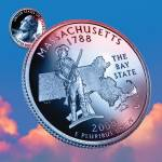 """Massachusetts_sky coin_06"" by Quarterama"