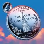 """Maryland_sky coin_07"" by Quarterama"