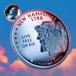 """New Hampshire_sky coin_09"" by Quarterama"