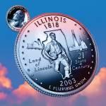 """Illinois_sky coin_21"" by Quarterama"