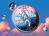 Illinois State Quarter - Sky Coin 21