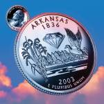 """Arkansas_sky coin_25"" by Quarterama"