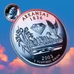 """""""Arkansas_sky coin_25"""" by Quarterama"""