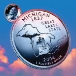 """Michigan_sky coin_26"" by Quarterama"