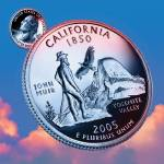 """California_sky coin_31"" by Quarterama"
