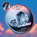 """Kansas_sky coin_34"" by Quarterama"