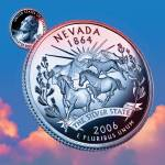 """Nevada_sky coin_36"" by Quarterama"
