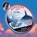 """Nebraska_sky coin_37"" by Quarterama"