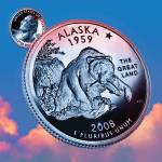 """Alaska_sky coin_49"" by Quarterama"