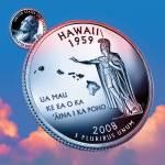 """Hawaii_sky coin_50"" by Quarterama"