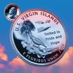 """U.S. Virgin Islands_sky coin_55"" by Quarterama"