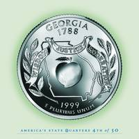 Georgia State Quarter - Portrait Coin 04