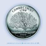 """Connecticut_portrait coin_05"" by Quarterama"