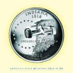 """Indiana_portrait coin_19"" by Quarterama"