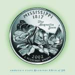 """Mississippi_portrait coin_20"" by Quarterama"