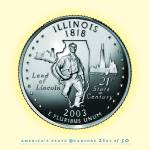 """Illinois_portrait coin_21"" by Quarterama"