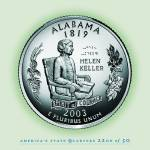 """Alabama_portrait coin_22"" by Quarterama"