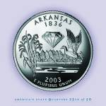 """Arkansas_portrait coin_25"" by Quarterama"