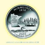 """Minnesota_portrait coin_32"" by Quarterama"