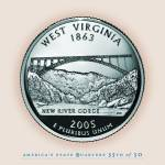 """West Virginia_portrait coin_35"" by Quarterama"