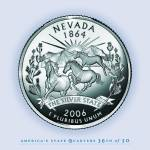 """Nevada_portrait coin_36"" by Quarterama"
