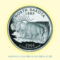 North Dakota State Quarter - Portrait Coin 39