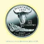 """Montana_portrait coin_41"" by Quarterama"