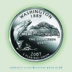 """Washington_portrait coin_42"" by Quarterama"